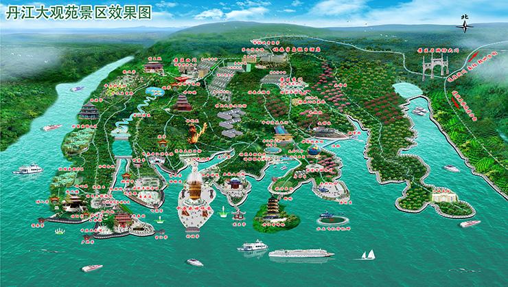 丹江大观苑景区导览图